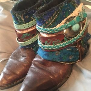 Shoes - 💕HOST PICK💕Handmade Upcycled Boots